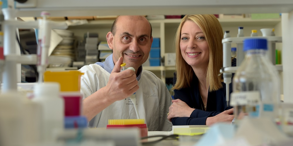 The Women's senior scientist Dr Harry Georgiou and Dr Megan Di Quinzio
