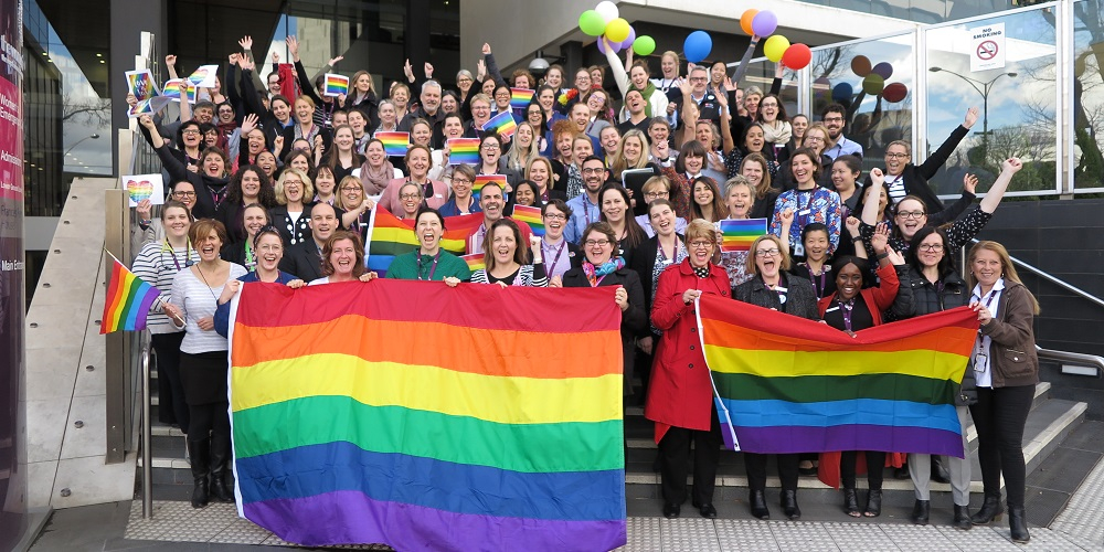 The Women's staff showing their support for the LGBTI community